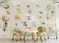Colorful Animals Alphabet Wallpaper Mural