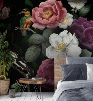 Colorful Peony Floral Bouqet Wallpaper Mural