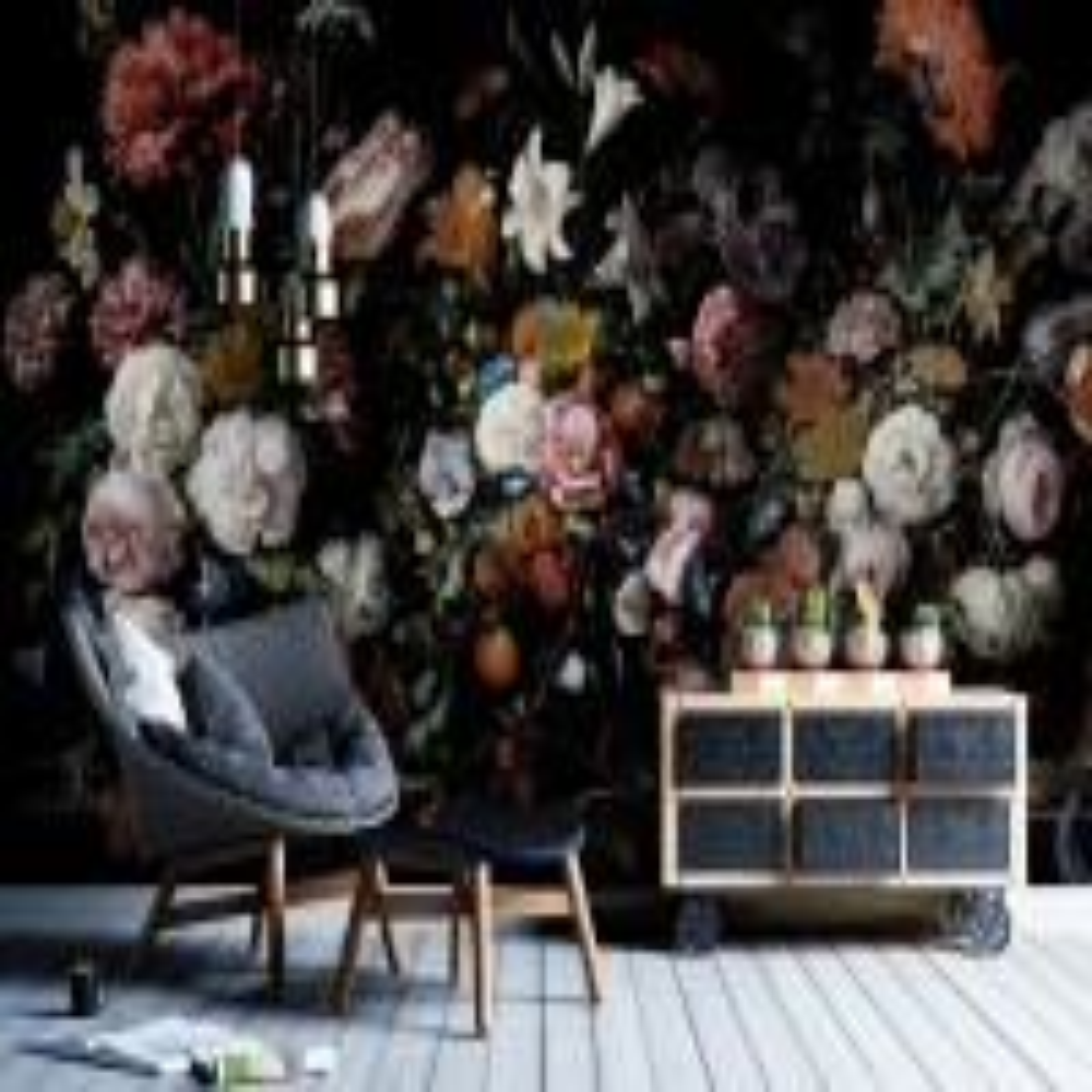 Dutch Flower Wallpaper Mural
