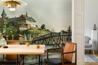 Historical Lake View with Palace Wallpaper Mural