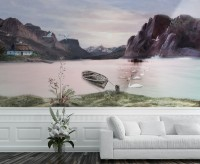 Nature Landscape with Mountains Wallpaper Mural