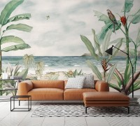 Tropical Beach View Wallpaper Mural