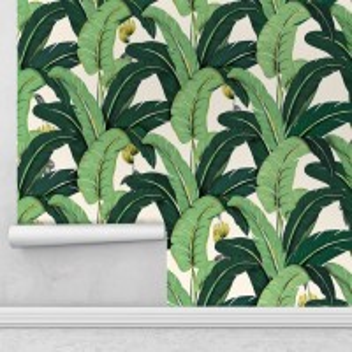Banana Leaf Pattern Wallpaper Mural