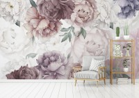 Soft Peony Nursery Floral Wallpaper Mural