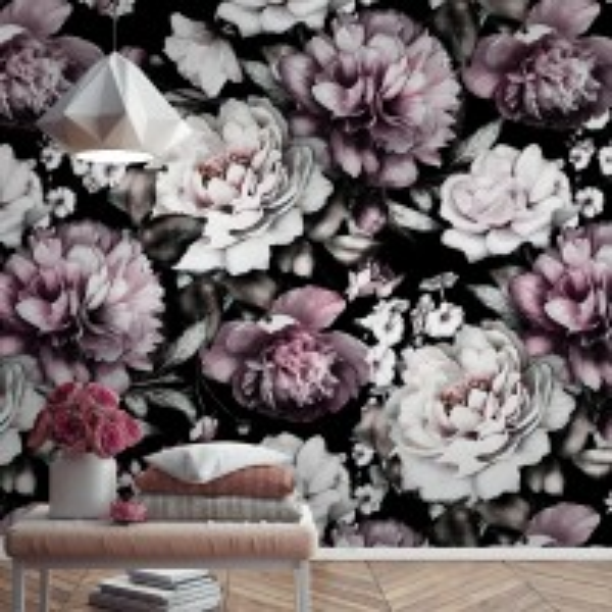 Vintage Peony Flower Wallpaper Mural