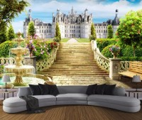 The Palace and Castle Garden Landscape Wallpaper Mural