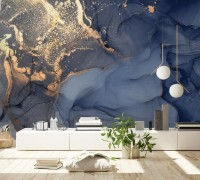 Marble with Gold Splash Wallpaper Mural