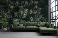 Pine Forest Aerial View Wallpaper Mural