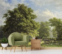 Rural Life View Wallpaper Mural