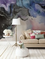 Abstract Colorful Smoke Wallpaper Mural