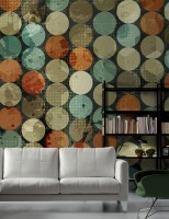 Colorful Circle Pattern Wallpaper Mural
