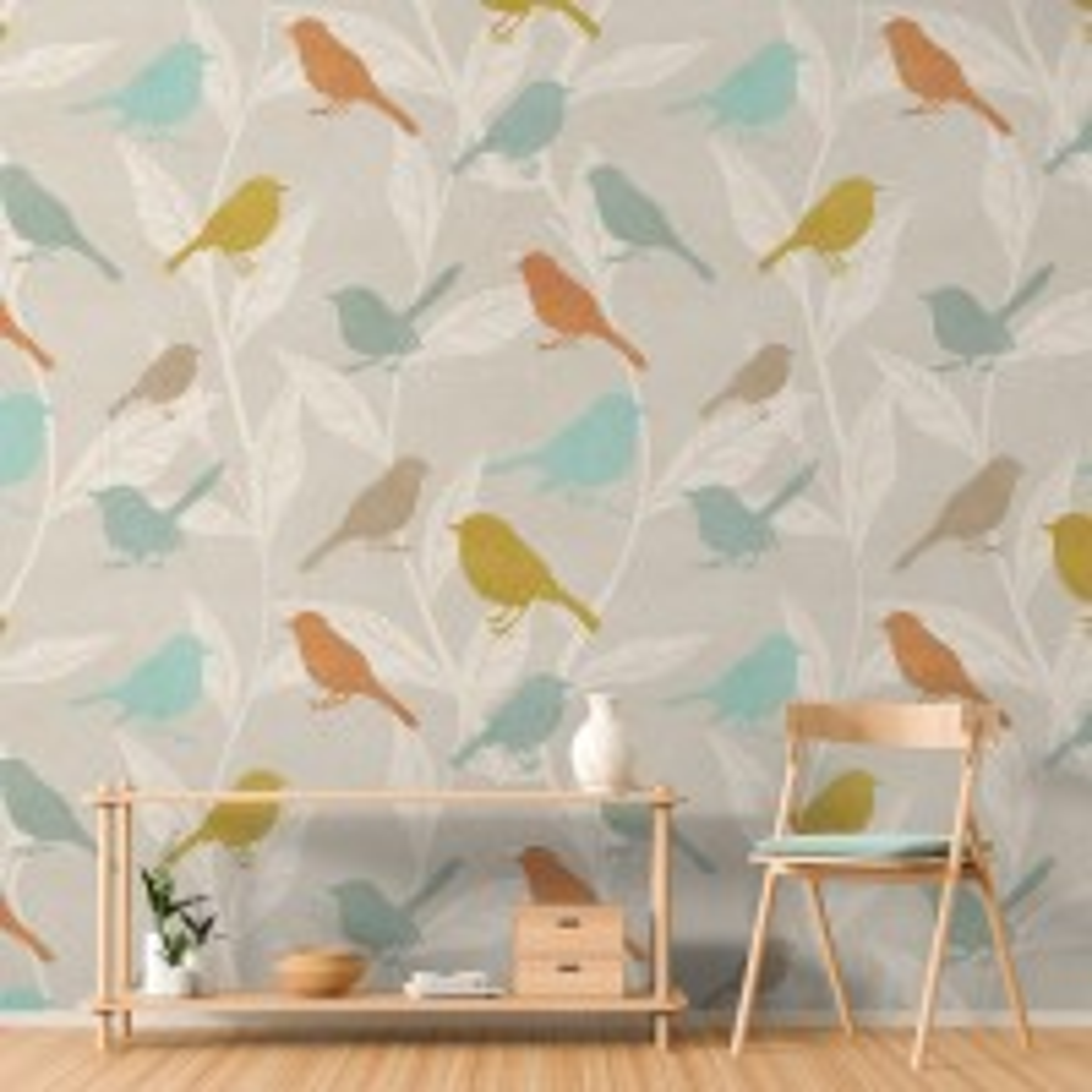 Colorful Europian Birds Wallpaper Mural