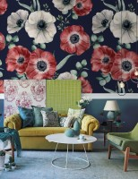 Corn Poppy Floral Wallpaper Mural