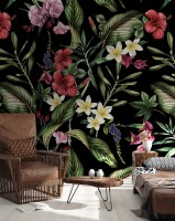 Dark Blossoms Wallpaper Mural