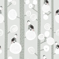 Dreamy Birds on Tree Wallpaper Mural