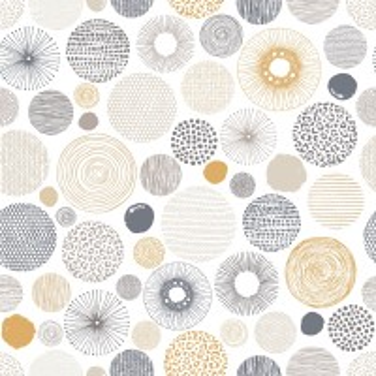Fancy Abstract Circles Wallpaper Mural
