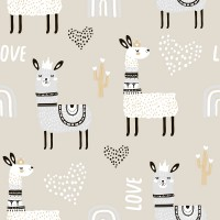 Fancy Lamb with Rainbow Wallpaper Mural