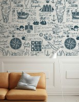 Inked Traveler Map Wallpaper Mural