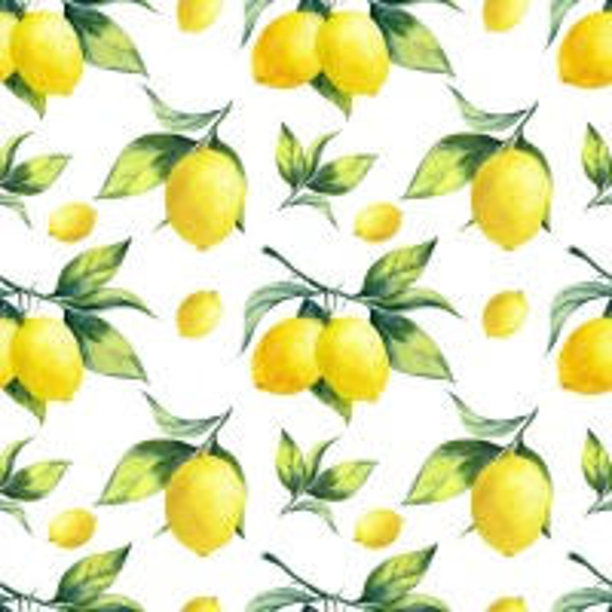 Lemon with Leaf Wallpaper Mural