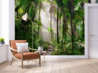 Tropical Forest Scenery Wallpaper Mural