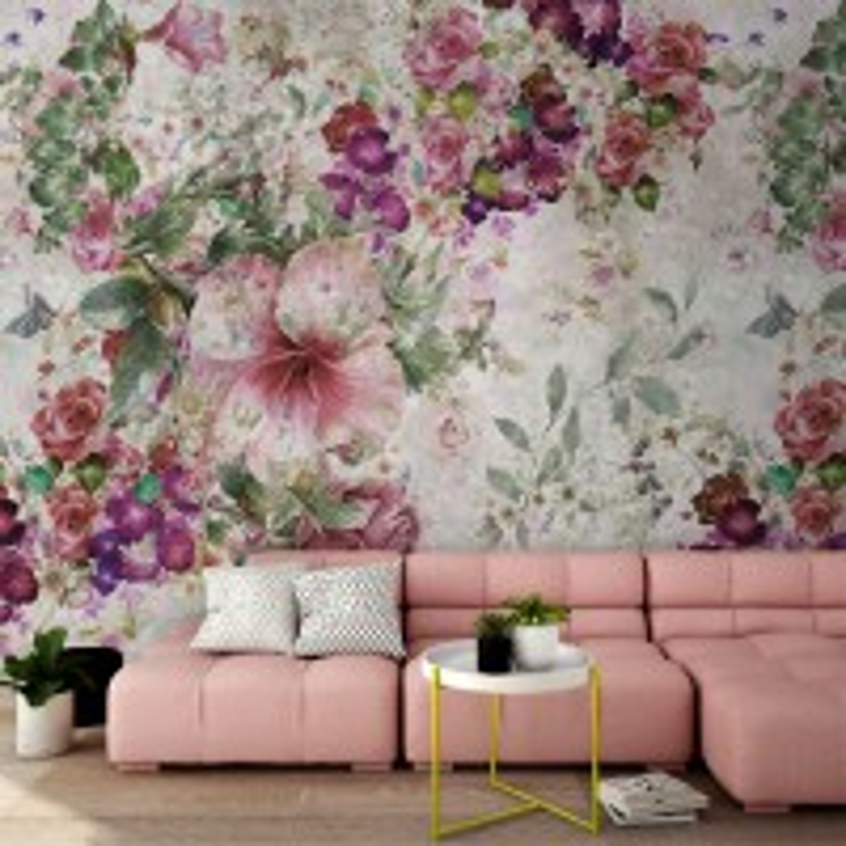 Vintage Flower Bouquet Wallpaper Mural