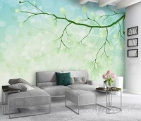 Tree Branches and Abstract Sky Wallpaper Mural