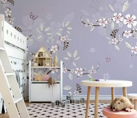 Cherry Blossom Art Wallpaper Mural