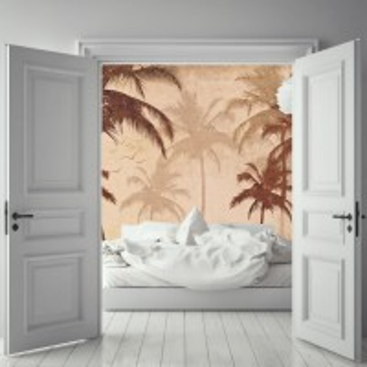 Nostalgic Palm Tree Wallpaper Mural