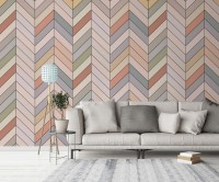 Vintage Chevron Pattern Wallpaper Mural