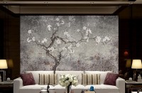 Vintage Dark Blossom Wallpaper Mural