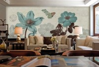 Vintage Rose Floral Wallpaper Mural