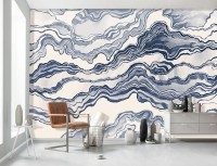 Nordic Abstract Waves Wallpaper Mural