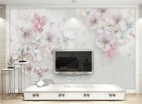 Watercolor Soft Floral Wallpaper Mural