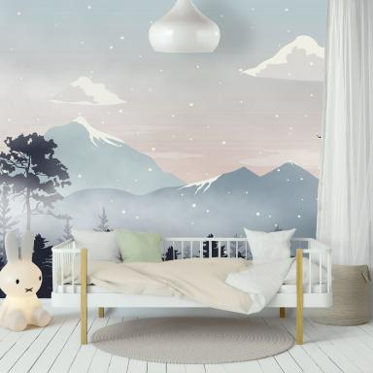 kids mountain landscape with snow wallpaper mural wm 260000td 31479906