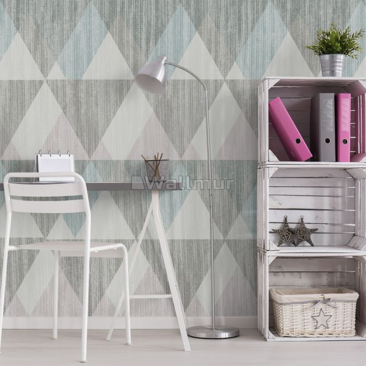 Trigon Geometric Shape Pattern Wallpaper Mural