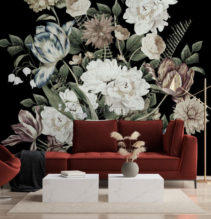 Lily Floral Bouqet Wallpaper Mural