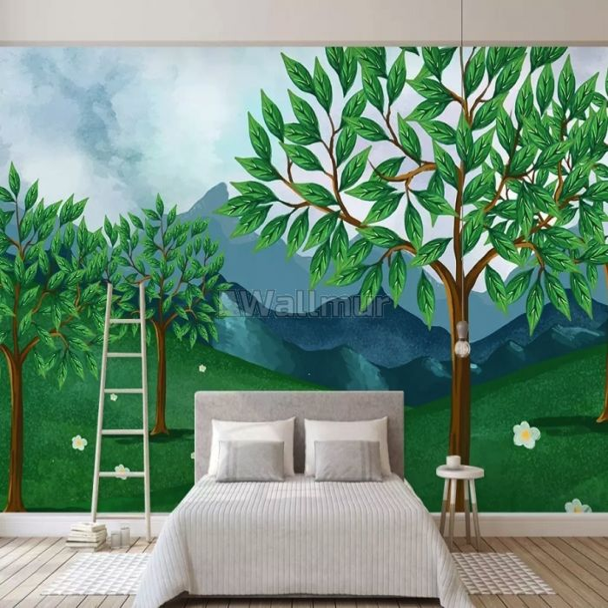 Cartoon Forest Wallpaper Mural