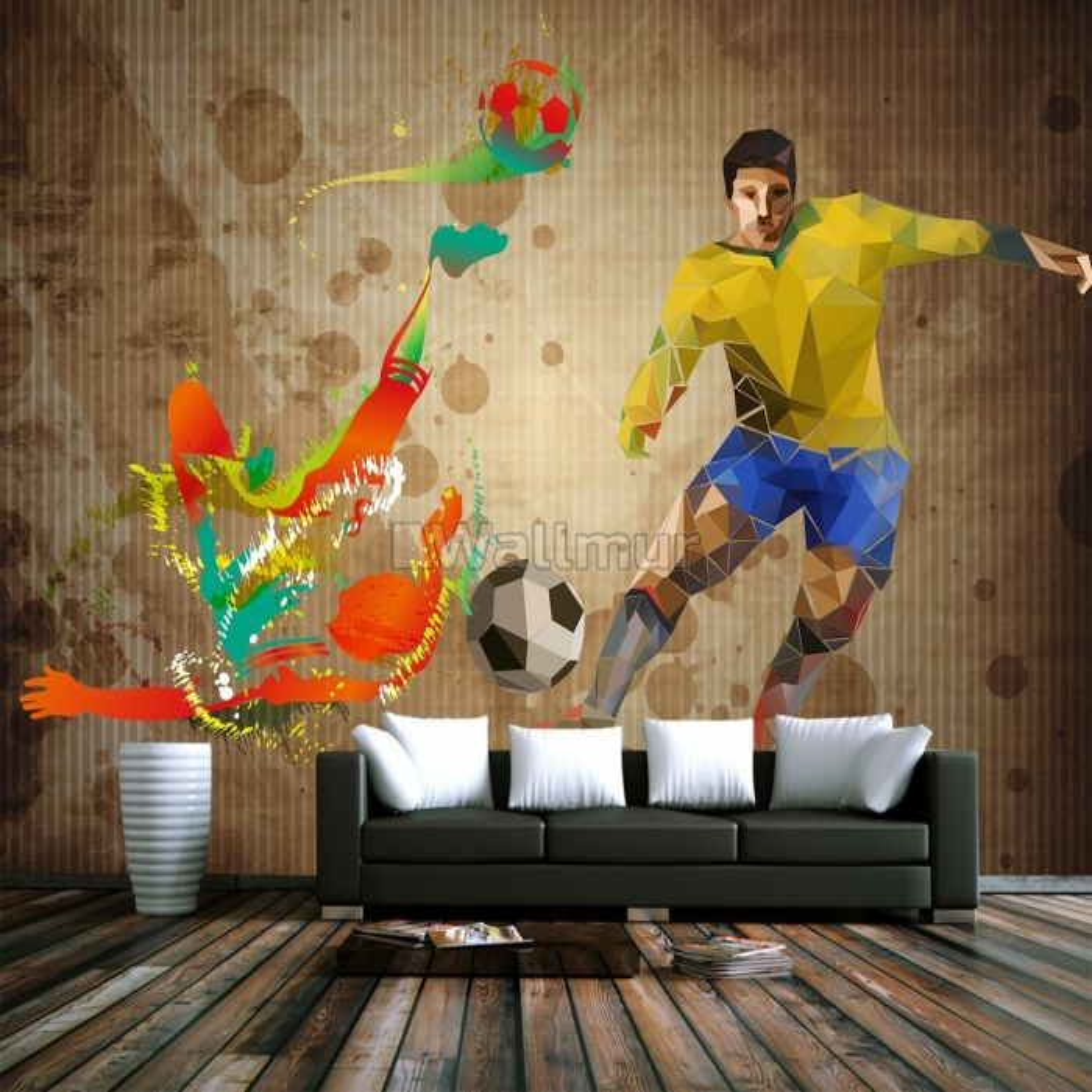 Football Player Sport Wallpaper Mural